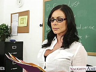 Brunette teacher Kendra Lust gets fucked and facialized
