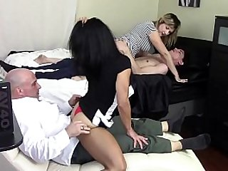 STEP MOM GRINDS SONS DICK WHILE STEP DAUGHTER GRINDS STEP DADDYS DICK FAMILY TABOO