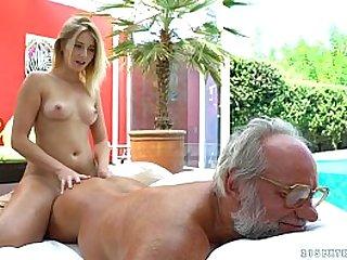 Aria Logan and her much older friend Grandpas Fuck Teens