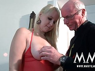 MMV Films Teen horny blonde girl get fucked by a grandpa