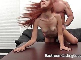 Hot Redhead gets Fucked and Cummed In