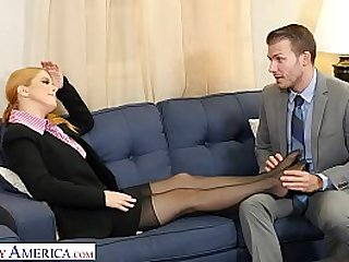 Naughty America Penny Pax gives her intern a fuck of his life