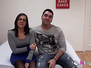 Young Spains couple sells their intimacy up and fucks for the cameras for the first time