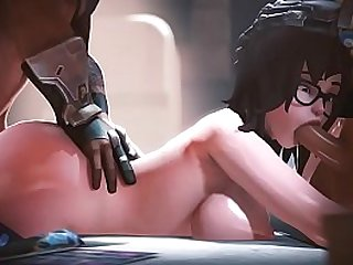 Overwatch Mei Takes a Hard Double Penetration