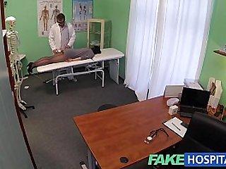 Fake Hospital G spot massage gets hot brunette patient wet