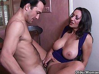 Busty brunette milf Persia Monir gets a creampie