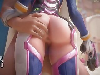 Overwatch Dva Fucking cartoon 3d game HD