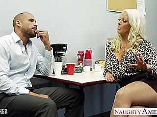 Hot sex teacher Alura Jenson fucking large shaft
