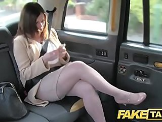 Fake Taxi Office romance with london cabby