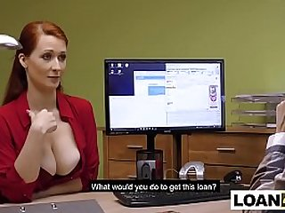 Huge natural boobs MILF requires a loan from this shady place