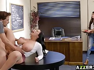 Hot librarian Sherdian loves long hard dick