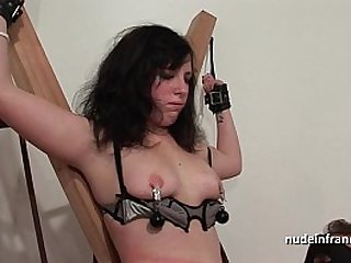 Young brunette hard sodomized fisted and corrected in bdsm game
