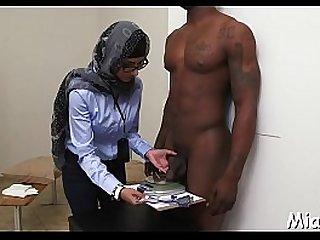 Big black shlong inside the arab cunt