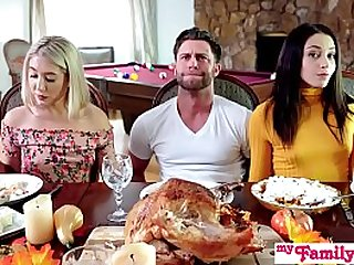 Whos Hotter Competing For His Thanksgiving Creampie