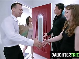 Bro Dads swap daughters during a game of domino