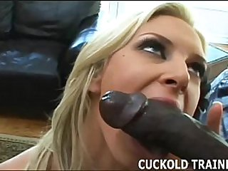 Sit in the corner while I ride a real mans cock
