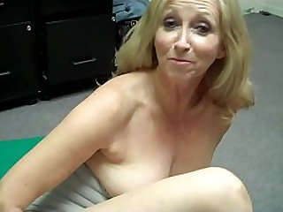 Grandma fingers herself then FREAKS OUT at Porn Casting Behind the Scenes