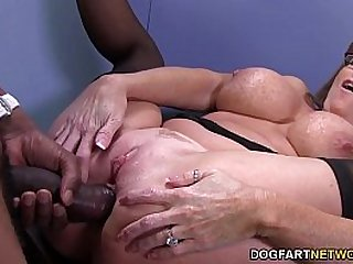 Sexy cougar Darla Crane gets rough anal from big black cock