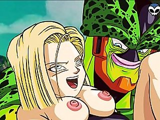 DBZ Android 18 and Cell Porn