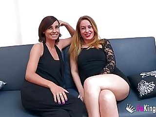 Chatting with em Natalia and Lucia, two hot milfs who are hungry of young meat