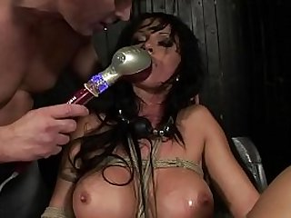 Under total domination. Humiliated bitch mouth fucked and screwed painfully in her all holes.BDSM movie.Hardcore bondage sex.