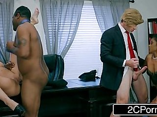 Post Election White House Oval Cabinet Orgy Cherie Deville, Yasmine de Leon