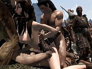 Skyrim Bandit Forced and Sold