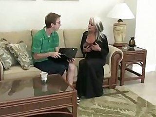 Nerd Fucks amateur MILF Sally Dangelo