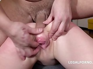 Alexa Flaxy gets hard Anal and DP with rough sex, manhandle, gapes, Facial
