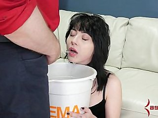 Piss waterboarding and rough anal for petite goth masochist