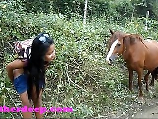 Heather Deep wheeling on scary fast quad and Peeing next to horses in the jungle