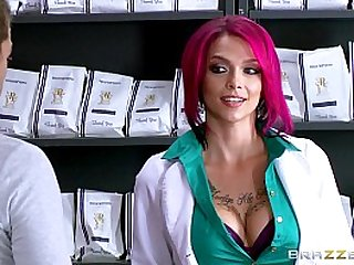 Hot inked Doctor Anna Bell loves big cock