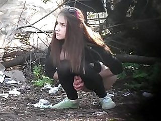 first MILF caught pissing then hot teen girl