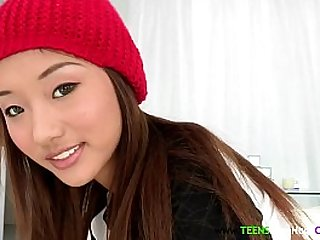 Petite asian cocklovers pretty face cumshot