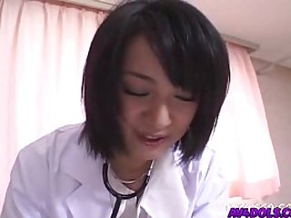 Horny doctor Shinobu Mizushima gets her pussy banged by her patient and facial