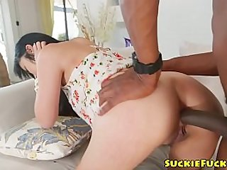 Japanese babe analized and facialized by BBC
