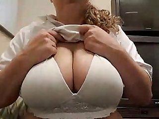 Curvy Blonde Milking Big Boobs