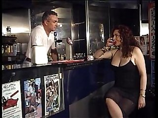 Horny Jessica walk into the bar of sin to taste the bartenders cock