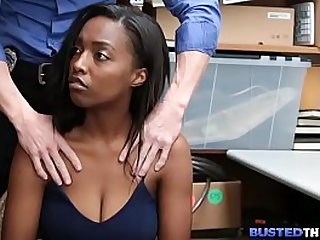 Black Teen Caught Stealing and Gets spotted and Fucked