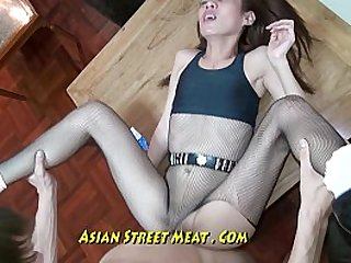 Nice Slimy Anal strapon Fuck Up Super Asian Slapper