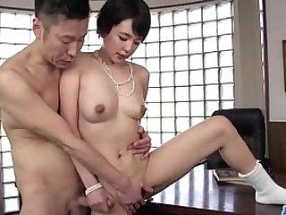Adorable beauty Sakura Aida bends over for a good fuck