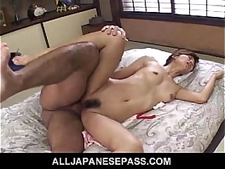 Nana Nanami legs spread wide for a hard ass fuck