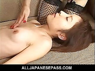 Horny mature teaches a hot young Asian cheerleader the facts of life