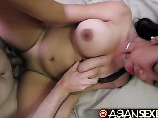 Asian Sex Diary Young Asian with her huge perfect tits and gets double fucked