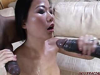 Asian takes black cocks