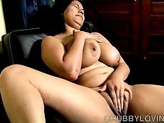 Beautiful busty latina has a fat juicy pussy