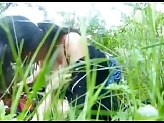 Girl outdoor with BF show her nice boobs sucking huge dick clear audio