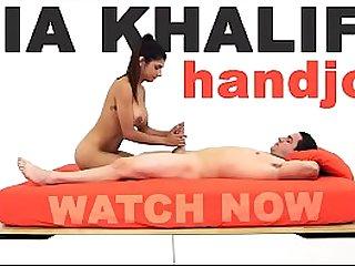 MIA KHALIFA Arab Goddess Performs Expert Level Handjob On Peter Green