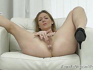 Mature MILF Masturbates Her Hairy Pussy Orgasm