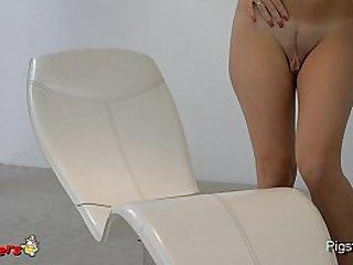 Incredible Big Pussy Masturbating to Orgasm with a Hitachi